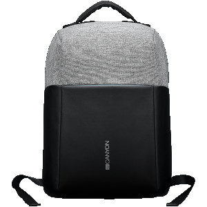 "Backpack for 15.6"" laptop material 900D glued polyester and 600D polyester black/dark"