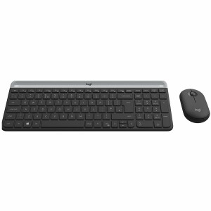 LOGITECH Slim Wireless Keyboard and Mouse Combo MK470 - GRAPHITE - HRV-SLV - INTNL