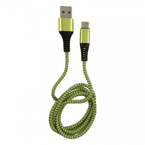 USB to Type-C cable bl/green