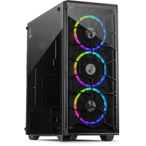 Inter-Tech Kućište C-907 Cobweb – RGB Tempered Glass